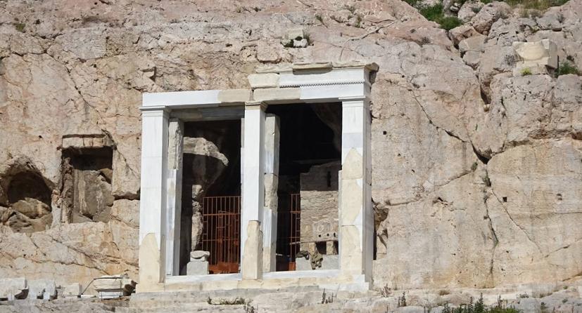 ιερος βραχοσ ακροπολης, παναγια, μυστικος, ναος